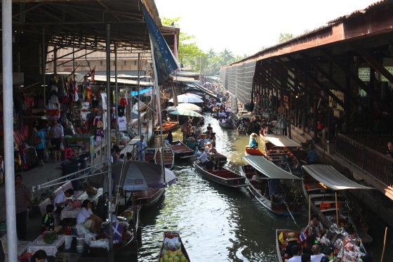 Floating Market- goods are sold from boats. amazing!